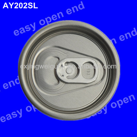 202(52mm) round full aperture aluminium beer can easy open end