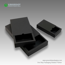 Competitive price small black paper box full color printing drawer gift packaging cardboard box