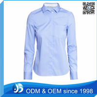 OEM Long Sleeve Uniform Style Office Shirts for Women