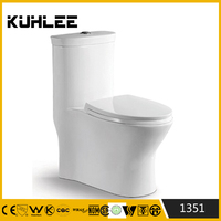 Hot sale siphonic one piece red colored toilets