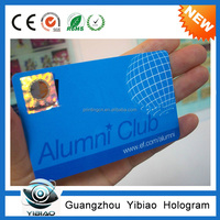 Embossed serial number hot stamping gold pvc blank id card overlay hologram