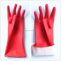 spray cotton lined latex household gloves largos guantes de limpieza