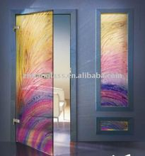 colourful interior door glass inserts blinds