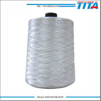 Wholesale raw white polyester embroidery thread
