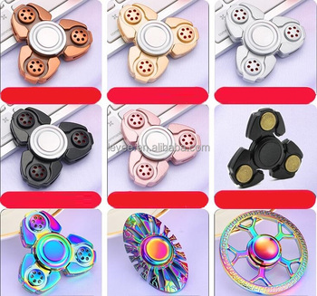 2017 new plastic factory Fashion design brass hand spinner