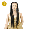 Fashionable Long Box Braids Medium-Sized Braided Cheap Price Full Lace Front Wigs High Temperature Synthetic Wigs