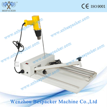 manual impulse cutter sealing machine with shrinking gun
