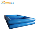 Customized outdoor inflatable double tube rectangle water pool