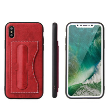 Newest Card Holder Leather Pouch Mobile Phone Case Bag for Iphone 8