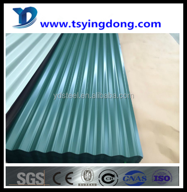 hot sale China supplier prime galvanized sheet steel sorrugated specification Tangshan