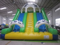 Giant inflatable sewing slide made by 0.55mm tarpaulin PVC inflatable cold air slide water slide