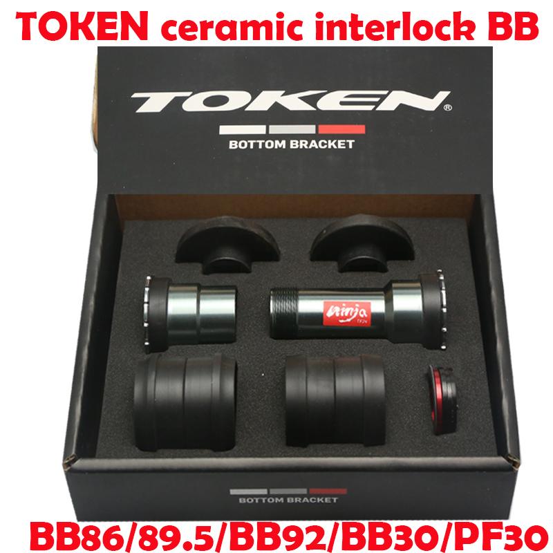 TOKEN Thread-Press Fit Ceramic Bottom Bracket BB86//BB92//BB30//PF30 to SRAM GXP