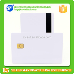 Hot sell SLE4442 256byte smart 2 track thin hi-co magnetic stripe card