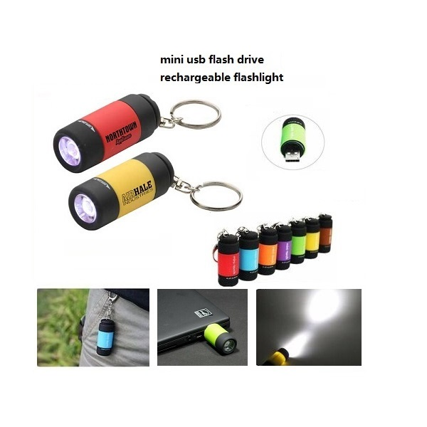 Custom Gift mini led flashlight usb flash drive