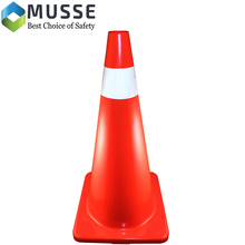 MU-29134-20C-085 PVC 71cm reflective traffic cone with Reflective Tape
