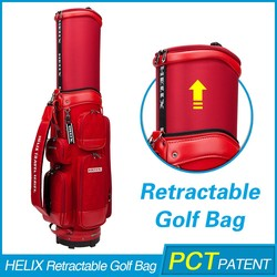 2016 Latest genuine Leather oem golf bag with custom logo