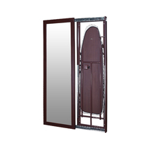 Foldable wall mounted mirrored Sliding door wooden leg ironing board of SRI-07