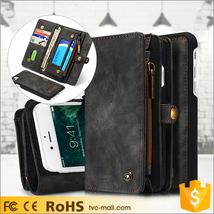 For iPhone 7 Caseme Mobile Phone Case Wallet Genuine Leather Phone Case