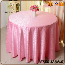 high quality hand embroidery jacquard table cloth for Christmas /wedding/home use