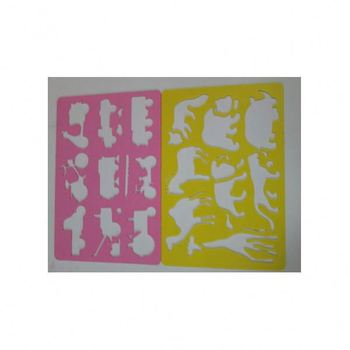 PP Factory Price High Quality Kids Drawing Plastic Stencils