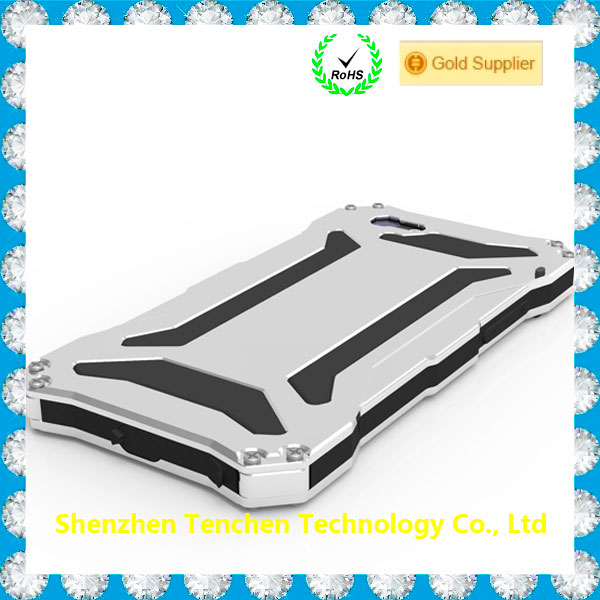 Luxury Ultra Thin Heavy Duty Aluminum Bumper Metal Shockproof R-just Phone Covers Case for Iphone5/6 /6plus