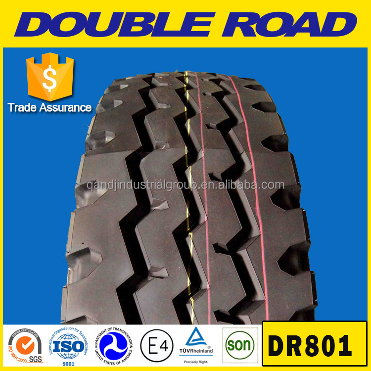 DOUBLE ROAD brand tire 9.00r20 all steel radial truck tire hot selling pattern
