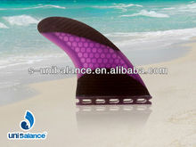 Wood Quad Fins Surfboard quad fin
