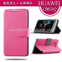 Wholesale PU leather case for huawei ascend p6 case