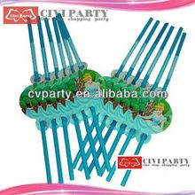 Popular flexible plastic party straws with for drinking led straw bottle