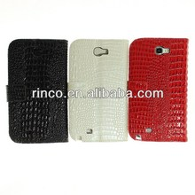 High Quanlity Croco Style Stand Leather Case Cover Skin for Samsung Galaxy Note 2 N7100 case