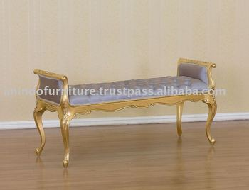 French Reproductions Furniture Gold Gilt Versailles Long Stool Buy French Reproductions