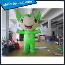 Lovely inflatable cartoon model/inflatable pokemon cartoon/green inflatable standing model for advertising