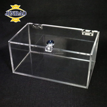 JINBAO 2017 clear luxury acrylic rugby ball display case wholesale