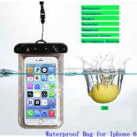 Environmental Material Sensitive Screen Waterproof Underwater Phone Pouch Dry Bag Case Cover for Iphone