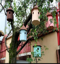 wholesale unique colorful Wooden Bird House
