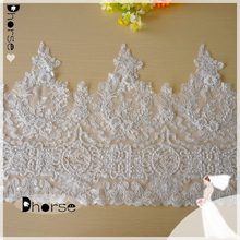 Dhorse DHBL1861 Gorgeous Chantilly Lace Fabric Embroidery Hem Lace Trim for Garment Hot Selling