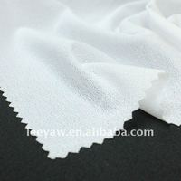 100% poly crepe fabric with wicking finish