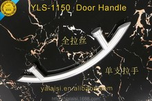 Fashion Bow shape elegant Satin 304 stainless steel door pull handle from chinese manufactory in jinli for glass door wood door