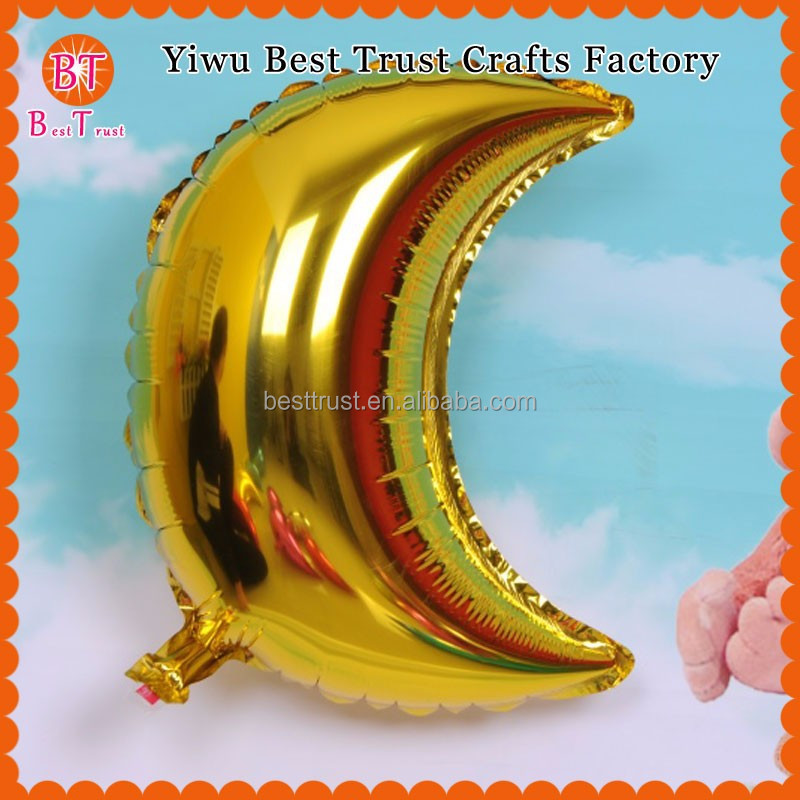 Wholesale 36inch Moon Shape Foil Helium Balloon For Baby Shower Party Decoration