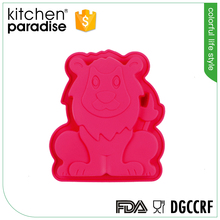 Economical silicone lion shape animal baking cake tray