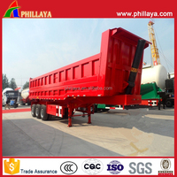 PHILLAYA Rear End Dump Side Tipper And Trailer Truck With Lifting Hydraulic System
