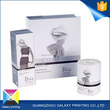 Customized promotional simple design suit paper perfume packaging box design templates