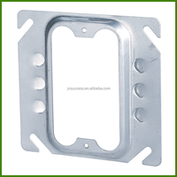 4 Inch Square Electrical Steel Switch Box Cover