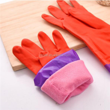 Brand MHR long household spray cotton lined rubber gloves/garden gloves/natural latex gloves
