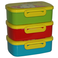 Plastic container with compartments for kids/BPA free lunch box