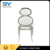 Tuffed living room chairs stacking banquet ghost chair stainless dining chair for hotel CY020