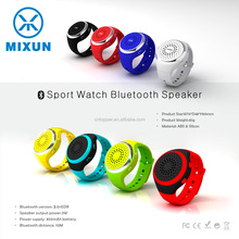 Portable High-end Wireless Bluetooth 2.1 Wearable Watch Speaker for Hands-free Answer Calls Outdoor Sports Music Selfie Radio FM