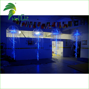 Party Decoration Colorful Lighting Inflatable Jellyfish Balloon for Christmas