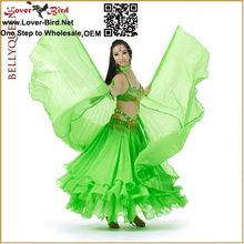 wholesale lover-bird belly dance costume Handmade Dance Violet 2Layer Fluffy Ostrich Wing Feather Fan