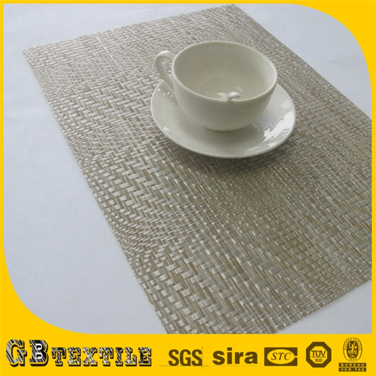 reusable woven straw kitchen plastic placemats